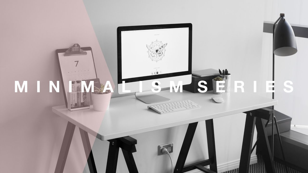 Quick Ways to Organise Your Desk or Workspace [Minimalism Series] // Rachel  Aust - YouTube