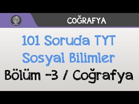 101 Soruda TYT Sosyal Bilimler -3 / Coğrafya