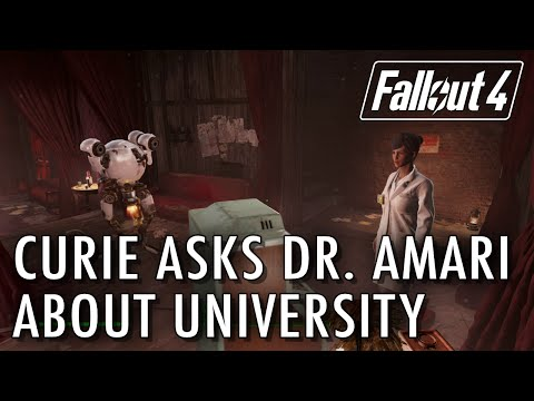 Curie asks Dr Amari about University - Fallout 4