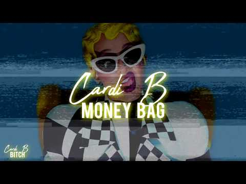 Cardi B  — Money Bag (Lyrics Video) HD