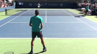Roger Federer Practice at Cincinnati 2015 #2
