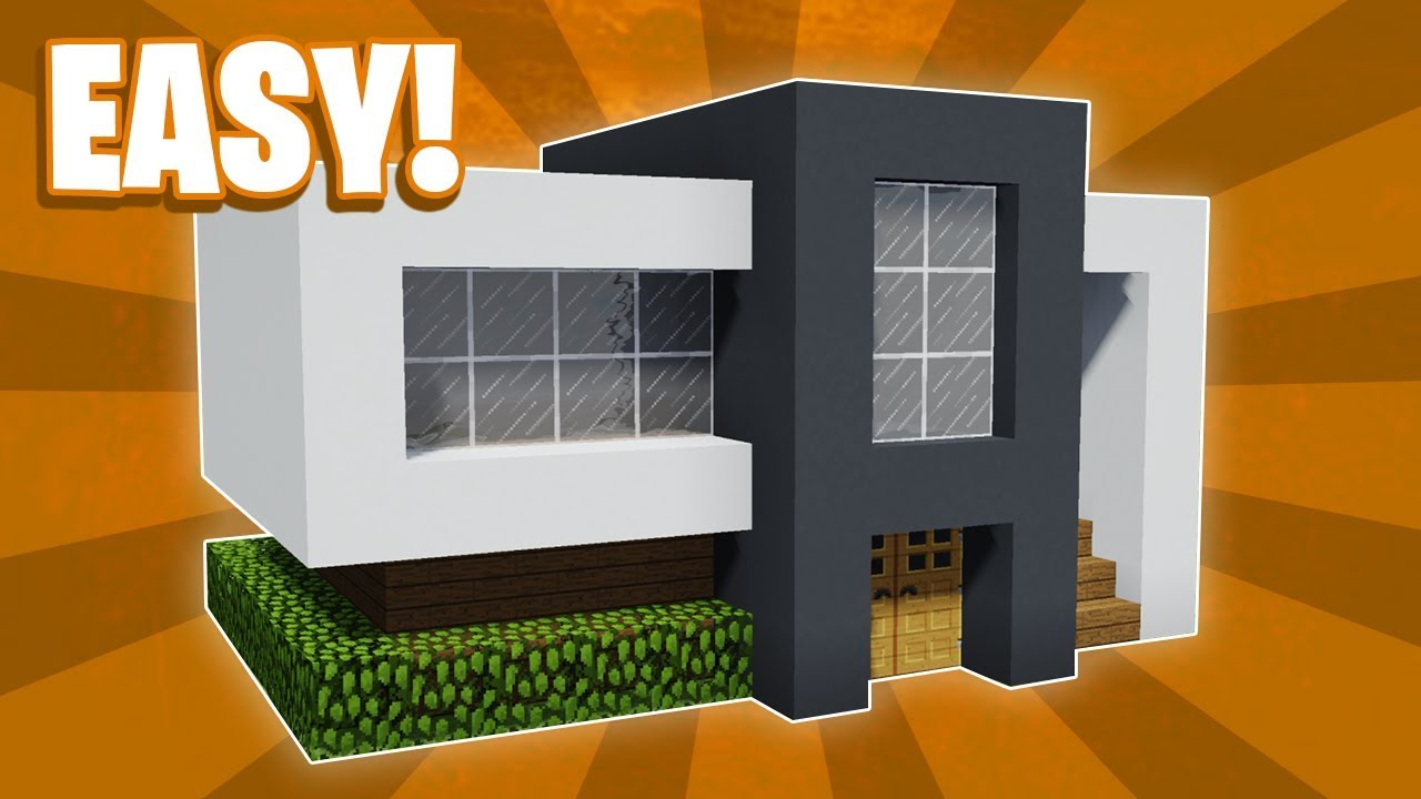 Minecraft How To Build A Small Modern House Tutorial 14 Youtube
