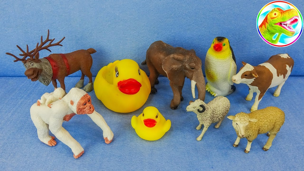 Lots of Toys Farm Animals for Kids - Baby Farm Toys FInd Mom Video - Learn Animals Names F518C