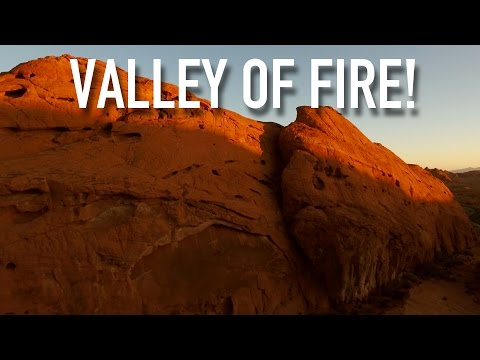VALLEY OF FIRE 🔥 (LAS VEGAS) WITH MOUNTAIN GOATS!   Phantom 4 4K Drone Video