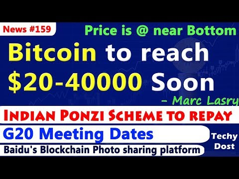 Bitcoin to $40000 in 2018 Prediction, G20 Meetings, Indian Ponzi Scheme to repay