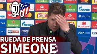 Juventus 3 - Atlético 0 | Rueda de prensa de Simeone | Diario AS