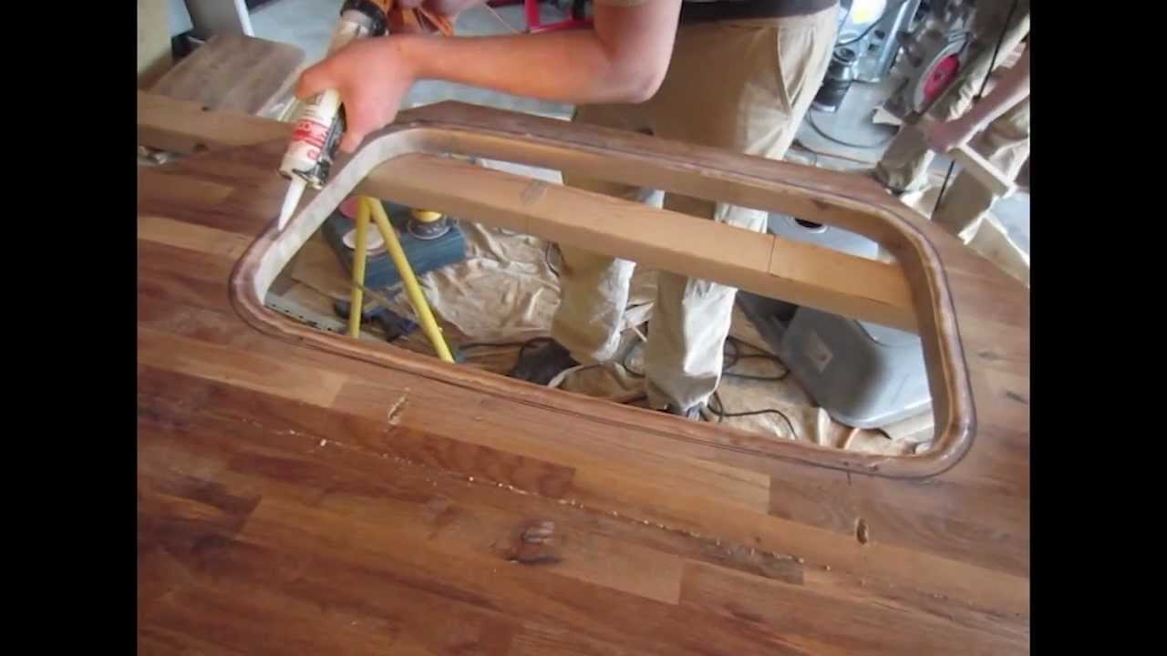 Kitchen Countertop Replacement With Ikea Butcherblock Youtube