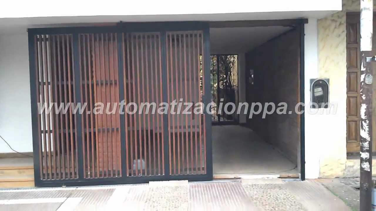 Port N Corredizo Automatizado Con Motor Peccinin Light