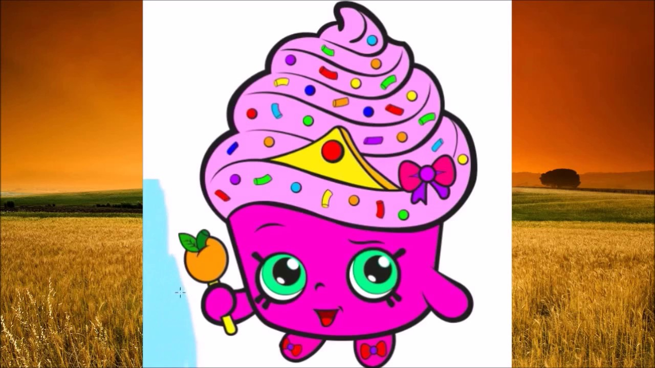 shopkins coloring book ice cream kate apple blossom cupcake