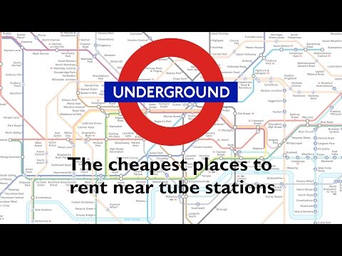 The cheapest places to rent near tube stations