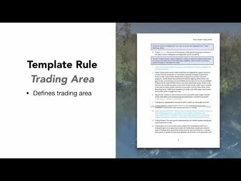 Water Quality Trading Toolkit Overview - What's inside the templates