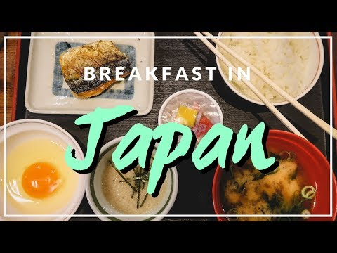 Traditional Japanese Breakfast in Osaka, Japan