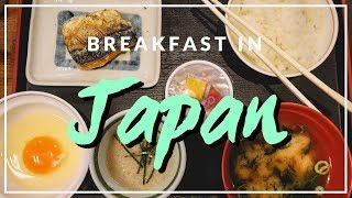Traditional Japanese Breakfast in Osaka, Japan