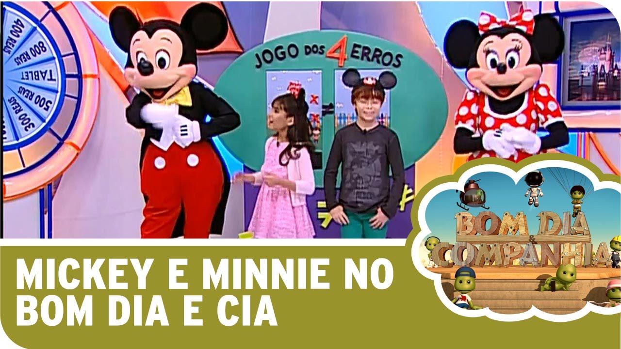 Bom Dia E Cia: Mickey E Minnie Apresentam O Mundo Disney No Bom Dia E Cia
