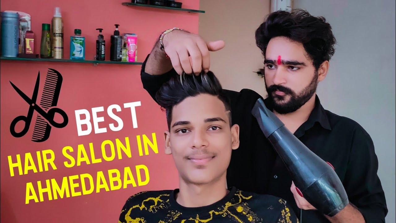 Best Hair Salon In Ahmedabad 💇‍♂️  New Hair Style  Vlog