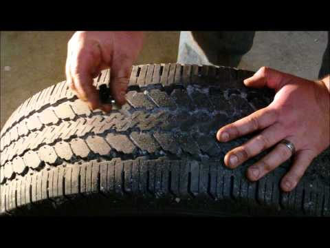 How to measure tire tread and use a tire depth gauge