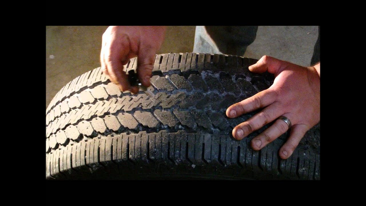 How To Measure Tire Tread And Use A Tire Depth Gauge Youtube