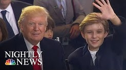 First Lady Melania And Barron Trump Move To The White House   NBC Nightly News