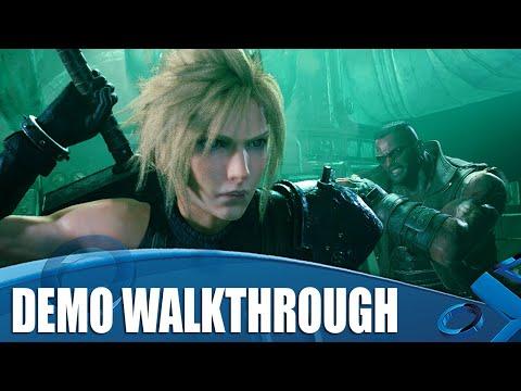Final Fantasy VII Remake 4K Gameplay - Full Demo Walkthrough
