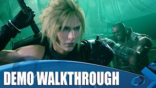 Final Fantasy VII Remake 4K Gameplay - Full Demo Walkthrough