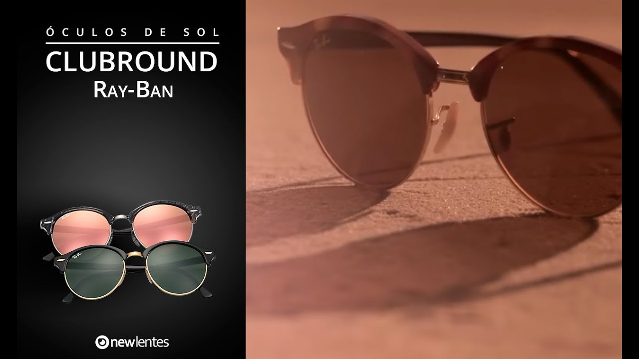 949e15373 Óculos Ray Ban Clubround | newlentes