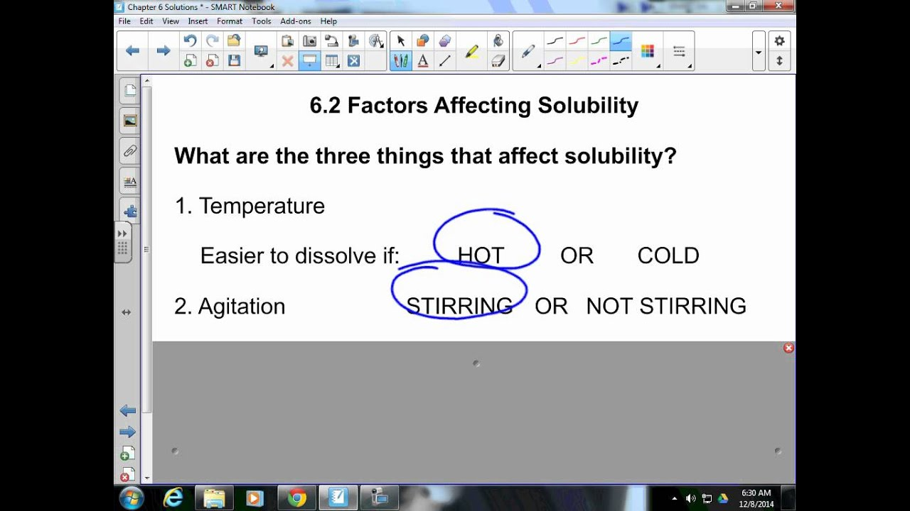 Physical Science Section 6 2 Factors Affecting Solubility