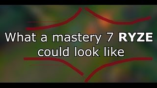 What a mastery 7 Ryze could look like
