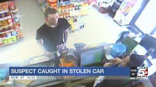 Suspect caught with stolen car, gun