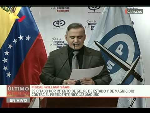 Fiscal General Tarek WIlliam Saab cita a Juan Guaidó por su participación en plan golpista de Alcalá