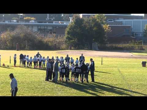 LBH Raiders vs Wilmington Wildcats coin toss 10/12/2014