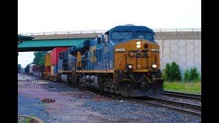 HD: 6/8/19 CN & CSXT Action In Effingham, IL