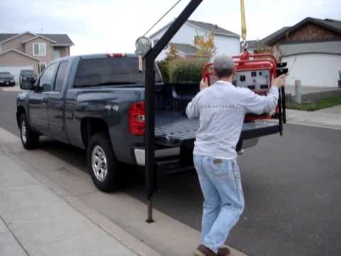 Loading A Generator Into A Truck Youtube