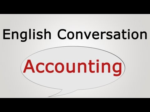 English conversation: Accounting