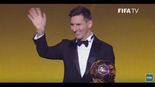 Lionel Messi wins FIFA Ballon d'Or 2015 - 5th Ballon d'Or For Messi