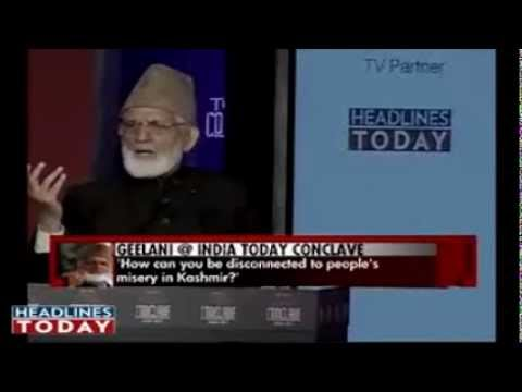 Syed Ali Shah Geelani (speech & Q/A) @ India Today Conclave *FULL*
