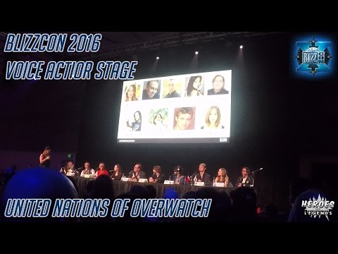 BLIZZCON 2016 | Voice Actor Stage | United Nations of Overwatch