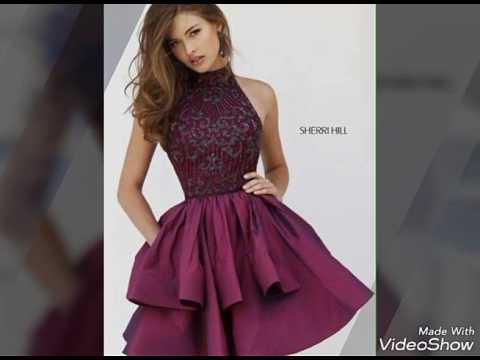 f256d09a5 Hermosos vestidos cortos para graduacion. - YouTube