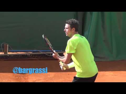 Stan Wawrinka and Novak Djokovic practice in Monte Carlo 2016