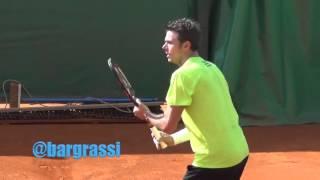 Stan Wawrinka and Novak Djokovic practice in Monte Carlo 2016