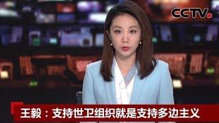 [中国新闻] 王毅:支持世卫组织就是支持多边主义 | 新冠肺炎疫情报道