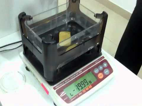 Gold Mass Density Test