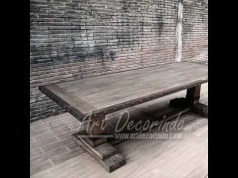 Indonesian Antique French Country Furniture Distressed Manuf