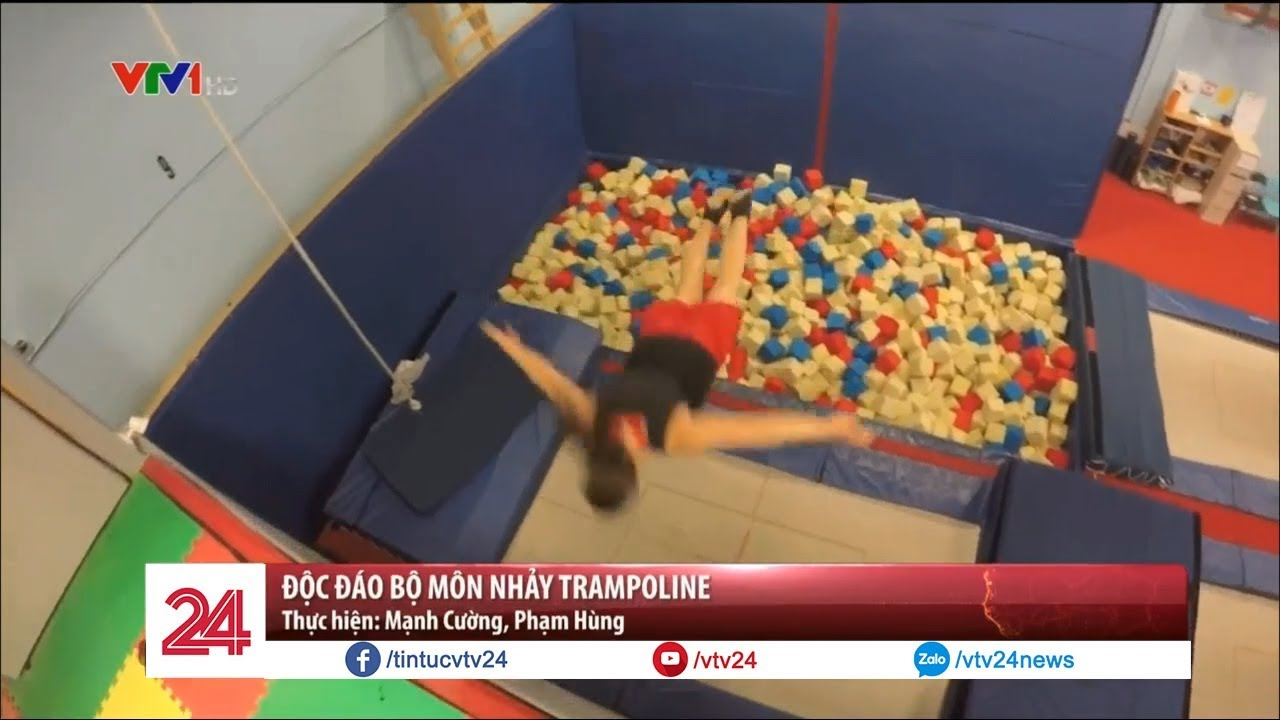 Độc đáo bộ môn nhảy Trampoline - Tin Tức VTV24
