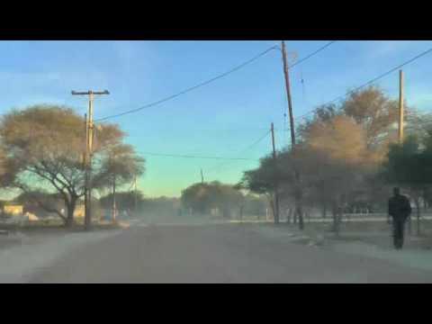 The drive home in Maun Botswana
