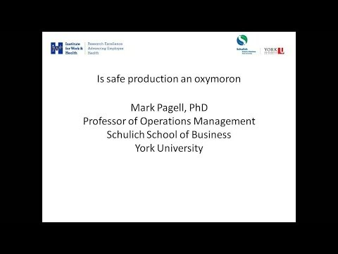 Is safe production an oxymoron?, March 6, 2012