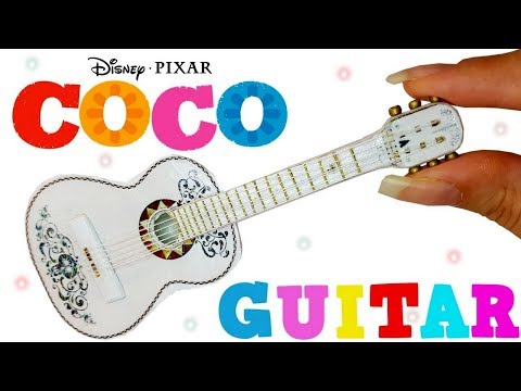 DIY Miniature ✫ Coco Guitar ✫ Tutorial | Crafts
