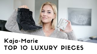 MY TOP 10 LUXURY PIECES - VALENTINO, CHANEL, IRO, BALENCIAGA, HERMÈS, ISABEL MARANT I KAJA-MARIE