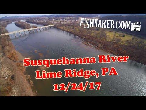 Susquehanna River, Lime Ridge, Pennsylvania - By Drone: 12/24/17