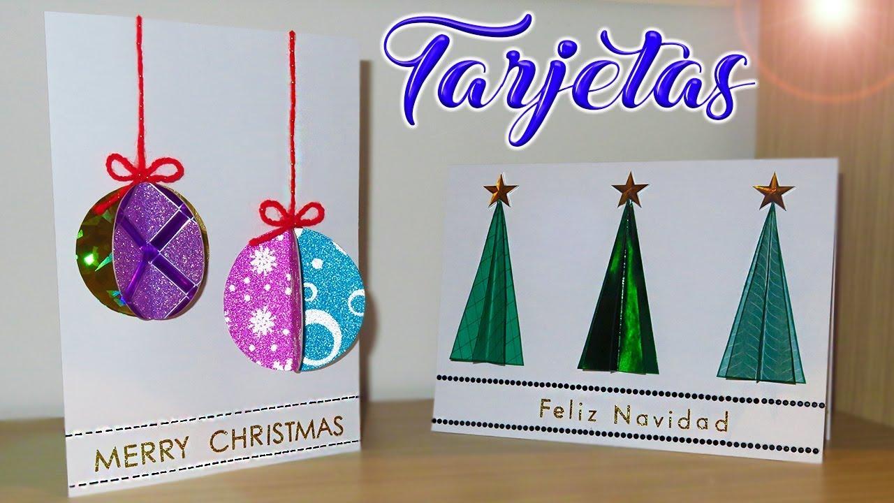 Tutorial tarjetas postales en 3d de navidad super - Como hacer tarjetas de navidad faciles ...