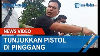 VIRAL, Terlibat Cekcok Dengan Warga, Pria Ini Tunjukkan Pistol di Saku Celana